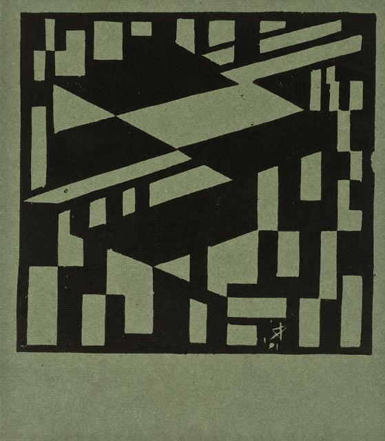 Linocut from a folder with 6 linocuts