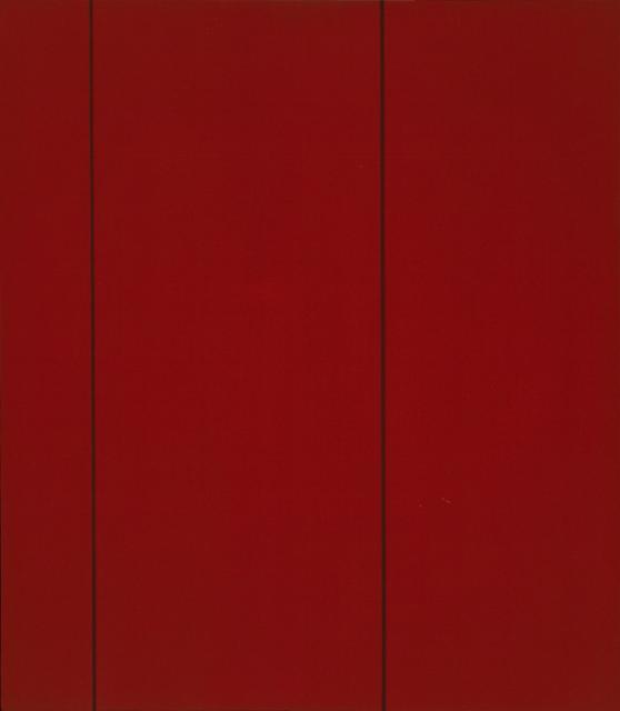 Monochrome red with two vertical lines