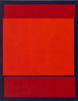 Composition with two Colours Red and Blue