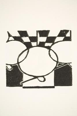 Untitled. Linocut from the series 9 Gravures sur lino