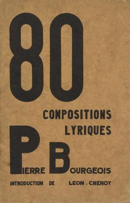 80 composition lyriques (80 lyrische composities; kaft)