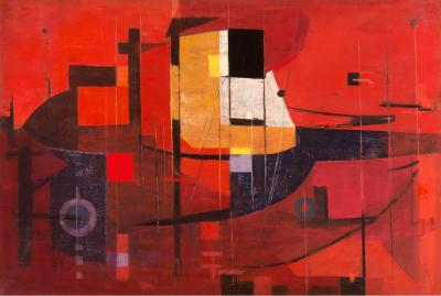 Composition in Red