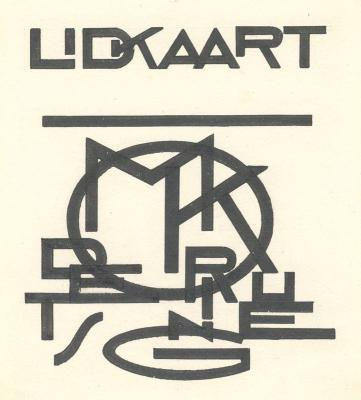 "Design for a membership card of ""Moderne kunst"""