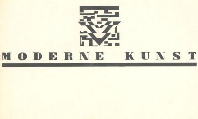 "Letterhead design for ""Moderne kunst"""