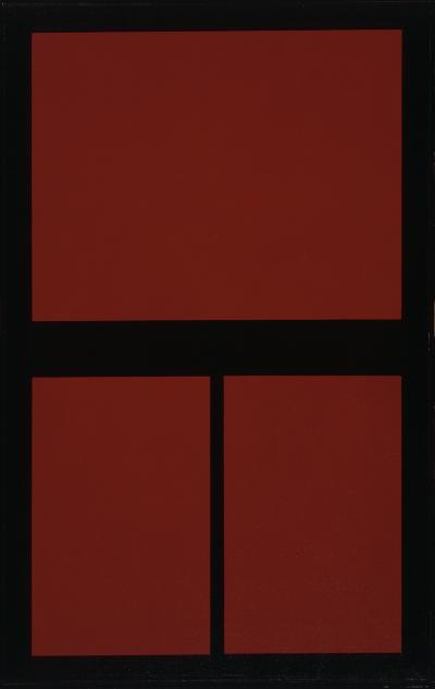 Abstract composition red-black